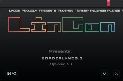 Borderlands 2 Trainer [+28] (All Versions)