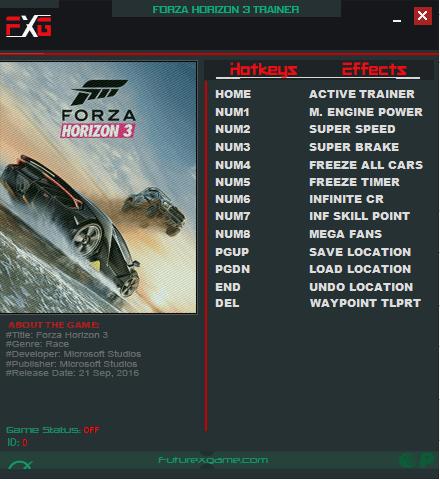 трейнер ForzaHorizon3
