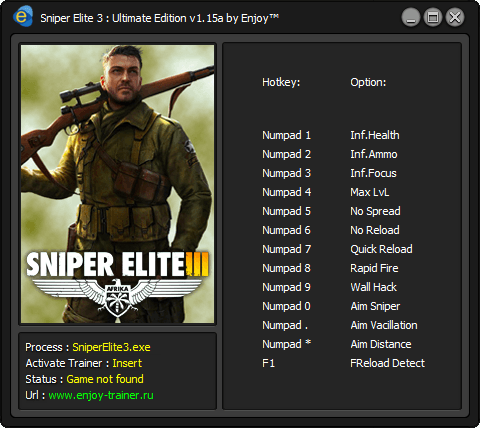 Sniper Elite 3 - Ultimate Edition Trainer [+13]