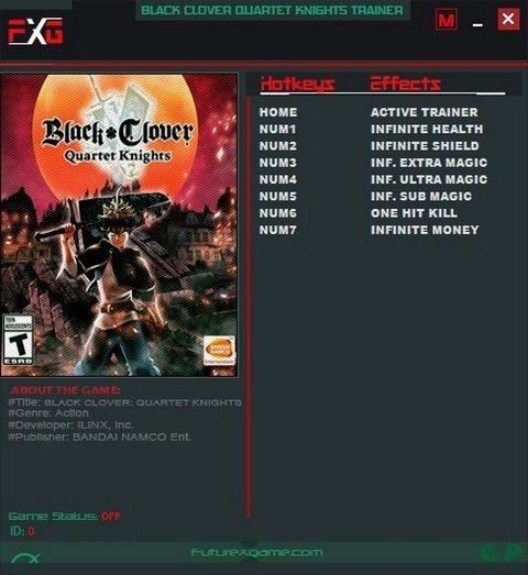 Black Clover - Quartet Knights Trainer [+7] (Latest)