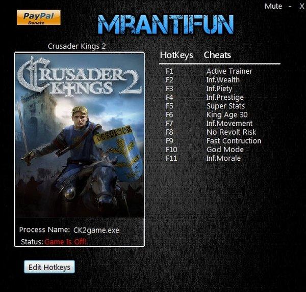 Crusader Kings 2 Trainer [+11] (Latest)