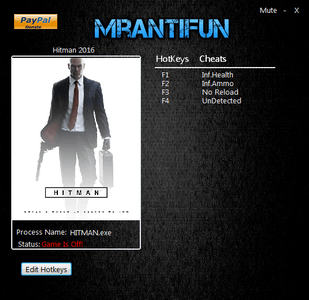 Hitman 6 Trainer [+4] (Latest)