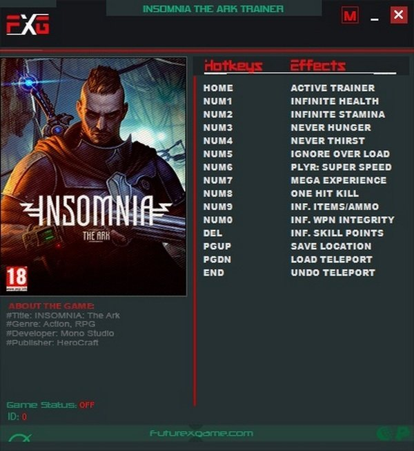 INSOMNIA - The Ark Trainer [+12] (Latest)