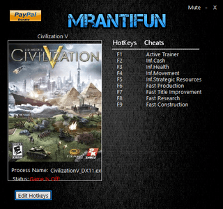 Sid Meier's Civilization 5 Trainer [+8] (Latest)
